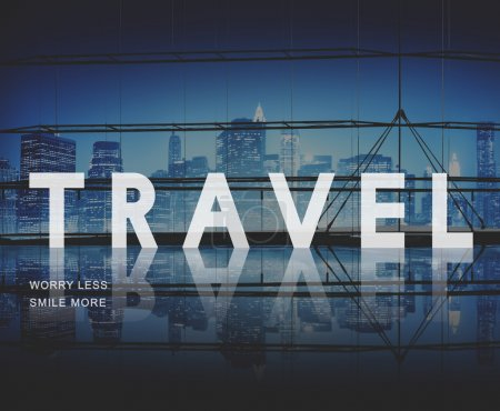 Cityscape with Travel Concept