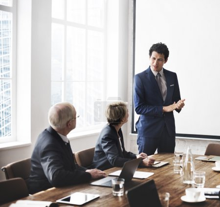 Business Tem Discussing