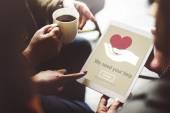 People on coffee break browsing in internet