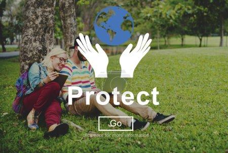Protect Environmentally Concept