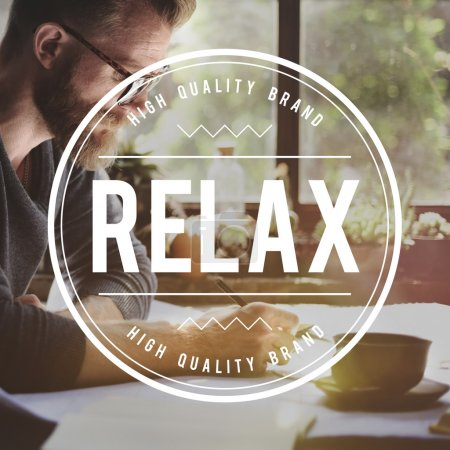 man and Relax Rest Concept