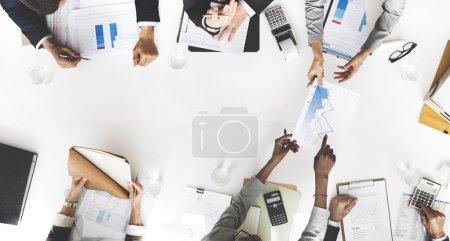 group of people brainstorming on meeting