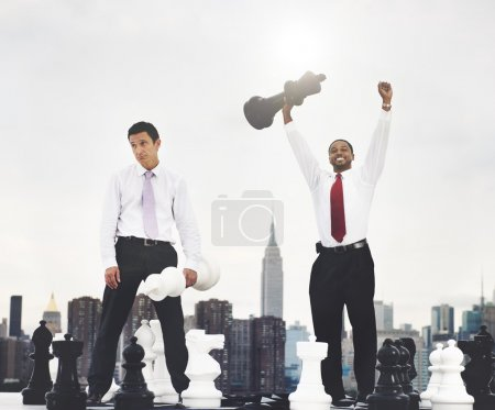 Businessmen with chess Concept