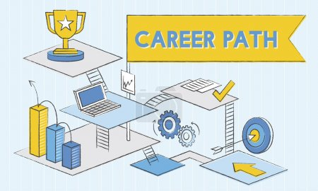 template with career path concept