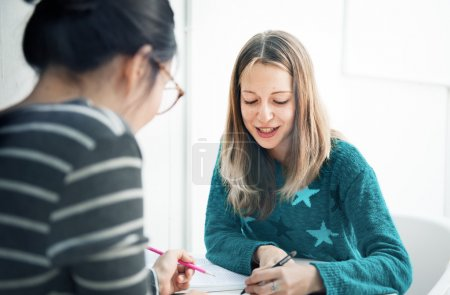 Girls Having Conversation
