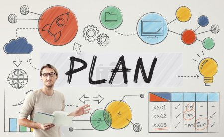 businessman working with plan