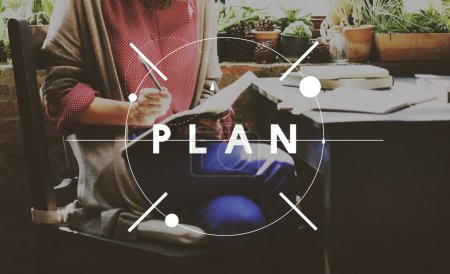 Businesswoman and plan Concept