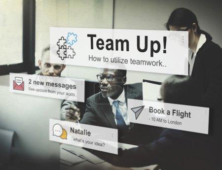 Team Building, Connection Corporate Concept
