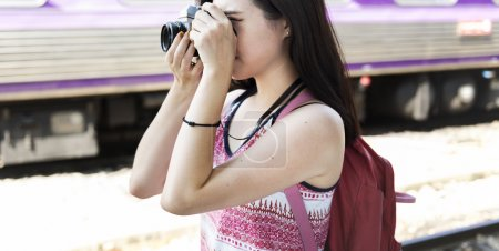 Girl Photographer Traveling