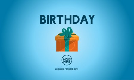 template with birthday concept