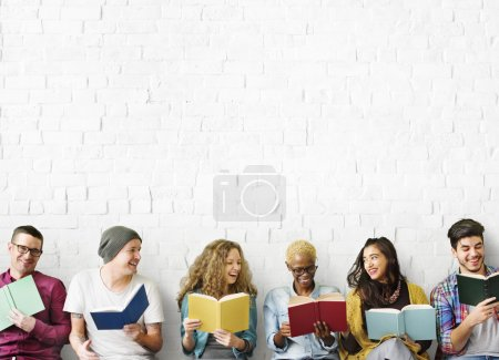diversity people with books