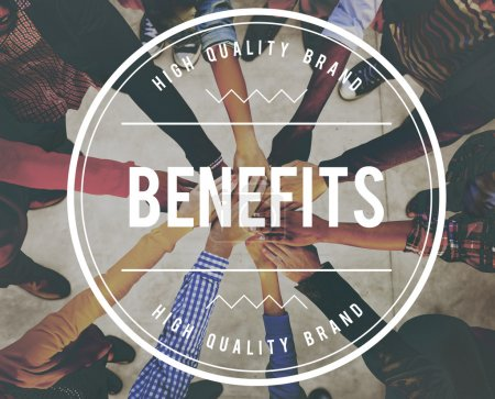 Multiethnic People and Benefits Concept