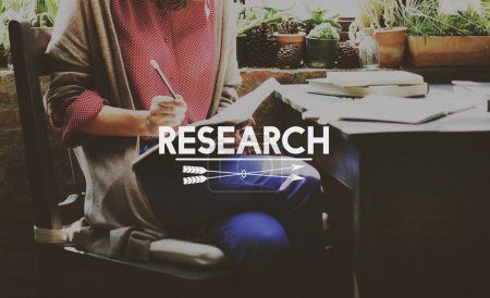 Businesswoman and research Concept