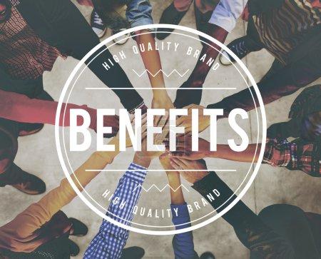 Benefits, Advantage Profit Concept