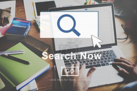 Search Now, Searching Concept