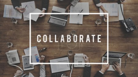 business people at meeting and collaborate