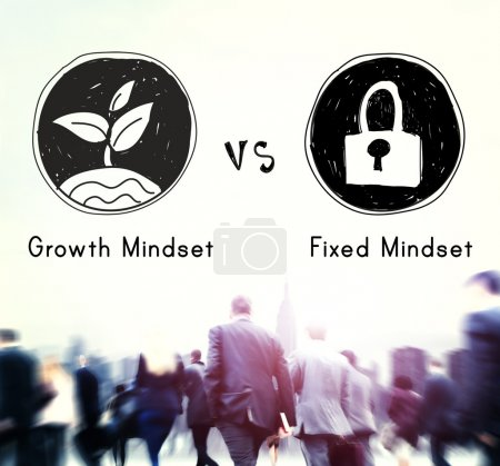 Growth Mindset vs Fixed Mindset Concept