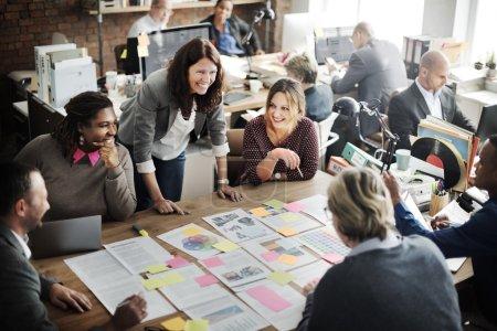 Happy multiethnic business team