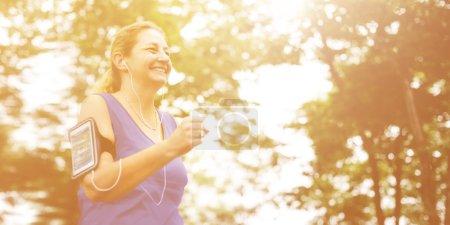 female jogger Exercising