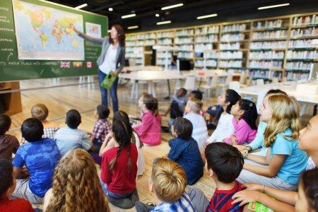 pupils having lesson at school
