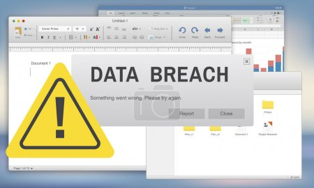 template with data breach concept