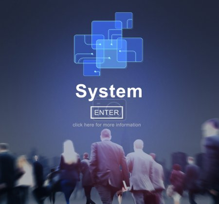Business People with System Concept