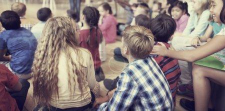 diversity children together at school
