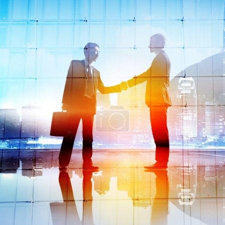 businessmen meeting and handshake