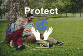 Chraňte životní prostředí koncepce