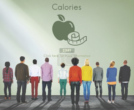 Multiethnic People and Calories Concept