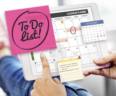 digital tablet with planner