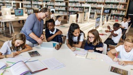 pupils at school having lesson