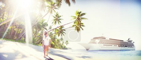 Couple spending Honeymoon on island