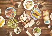 Rozmanitost lahodné jídlo na party