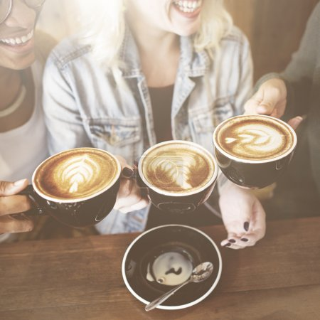 Women Friends Enjoy Coffee