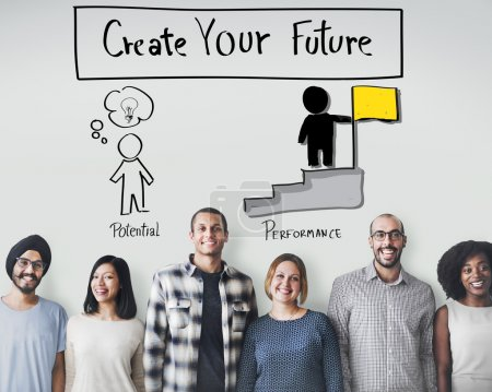 Future concept and diversity people