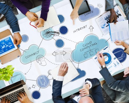 Business People and Cloud Computing Concpet
