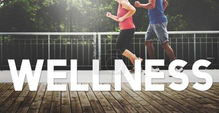 Running Wellbeing Concept