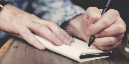 Jounalist Writing an article
