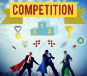 Businessmen and Competition Concept
