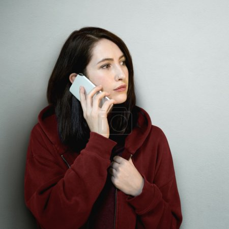 portrait of Woman with Mobile Phone