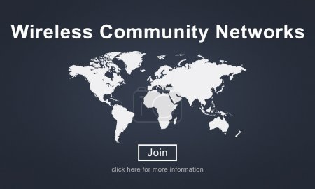 Template with Community Networks concept
