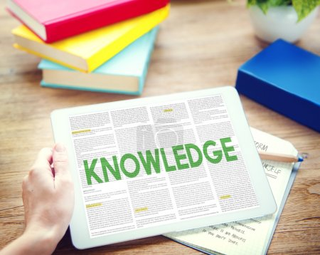 Man using tablet and knowledge Concept