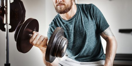 Sportsman doing Athletic exercise