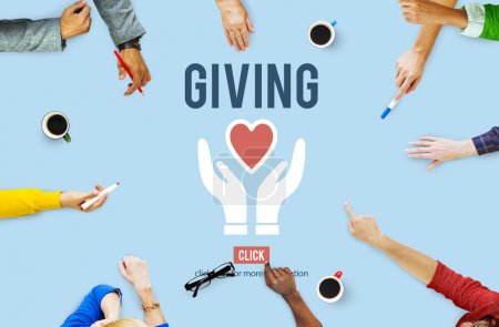 Business People working with Giving Concept