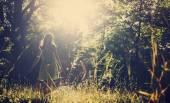 Žena Relax v přírodě