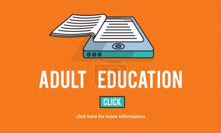 template with Adult Education concept