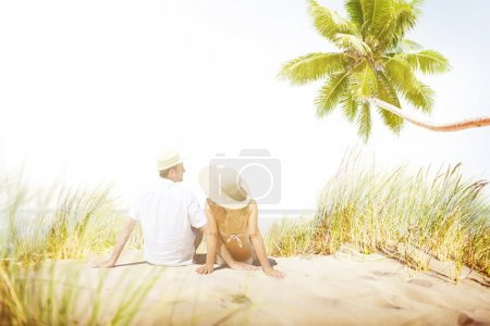 Couple spending Honeymoon on island