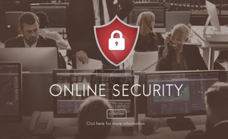 business people working and Online Security