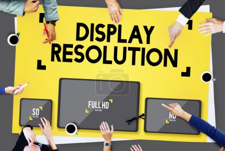 Display Resolution, Technology Concept